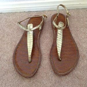 Sam Edelman Gigi sandal gold snake skin
